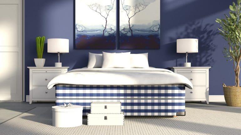 How to Sleep Better - Blue Bedroom